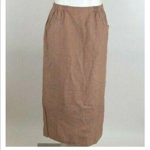 Flax 100% Linen Maxi Skirt